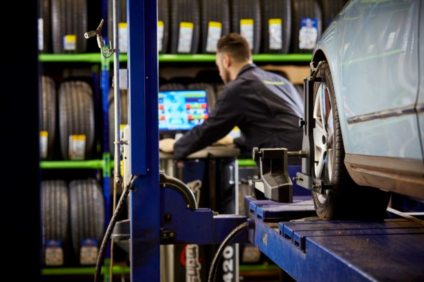 What causes bad wheel alignment?